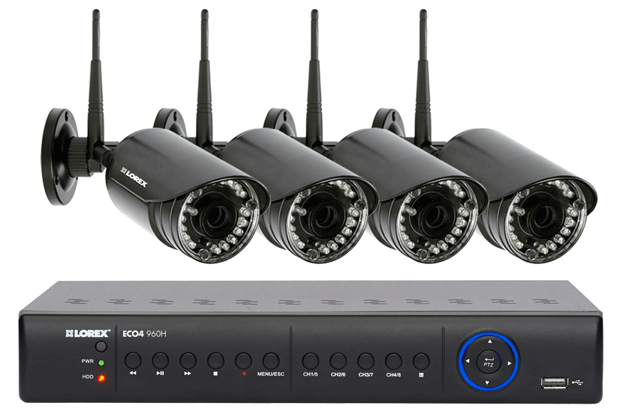 Outdoor wireless security camera system at Lorex