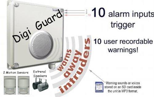 L4l Voice Off Pir Sensor Activated Intruder Deterrent