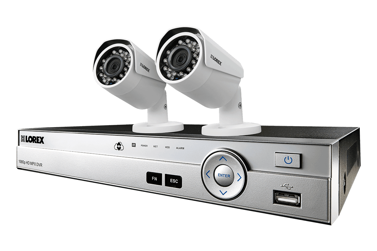 8-channel surveillance camera system with 2 HD 1080p cameras